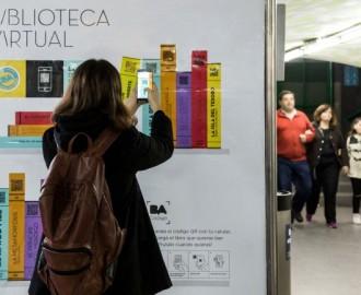 Inauguran bibliotecas digitales en estaciones de subte de la Ciudad